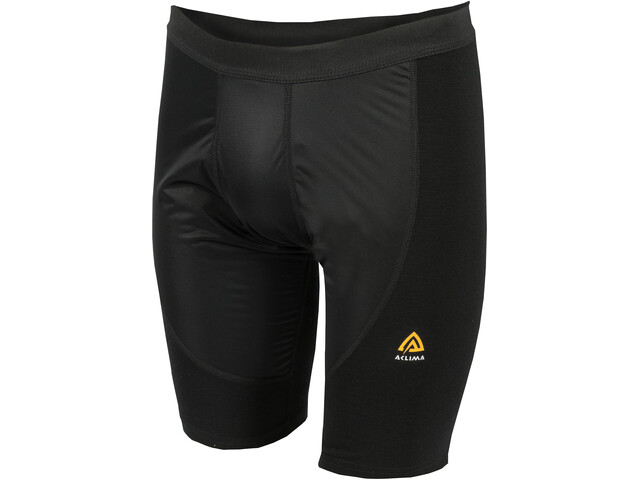 Aclima WarmWool Shorts with Windstop Herren jet black